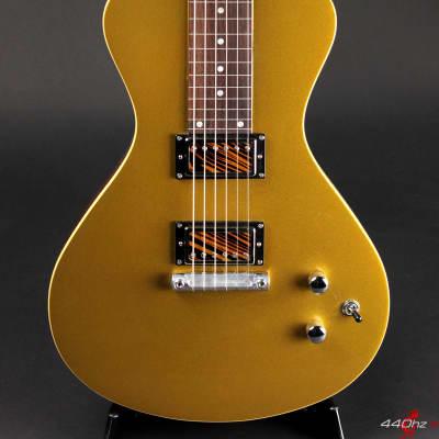 Asher Electro Hawaiian Junior Lap Steel Guitar Gold Top with Custom Firestripe Pickups - NEW Model! for sale