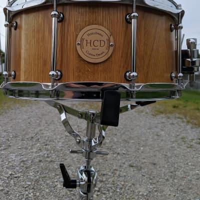 "Holloman Custom Drums 6.5"" x 14"" White Oak Snare  Semi Gloss"