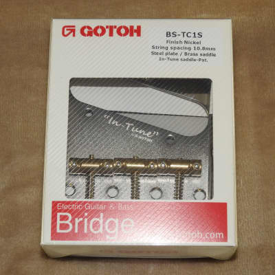Gotoh BS-TC1S Nickel Finish Vintage Telecaster Bridge With In-Tune Brass Saddles Factory Packaging!