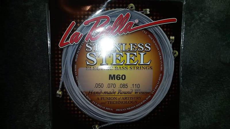 la bella m60 stainless steel round wound bass strings reverb. Black Bedroom Furniture Sets. Home Design Ideas