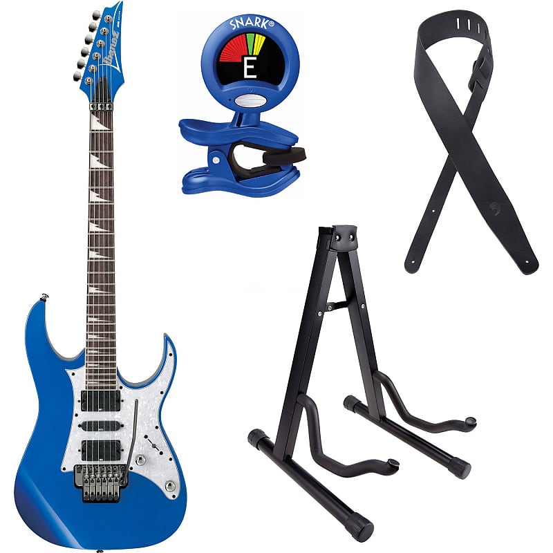 Ibanez RG450DX RG450DXSlb RG Electronic Guitar in Starlight Blue with  Tuner, Stand and Guitar Strap