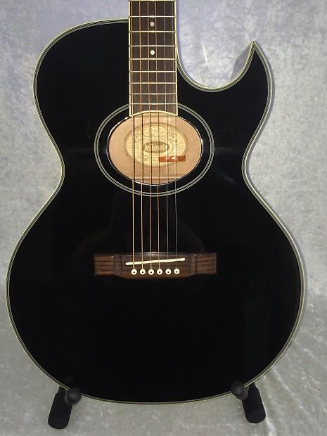 washburn ea9 refurbished acoustic electric guitar ebony reverb. Black Bedroom Furniture Sets. Home Design Ideas