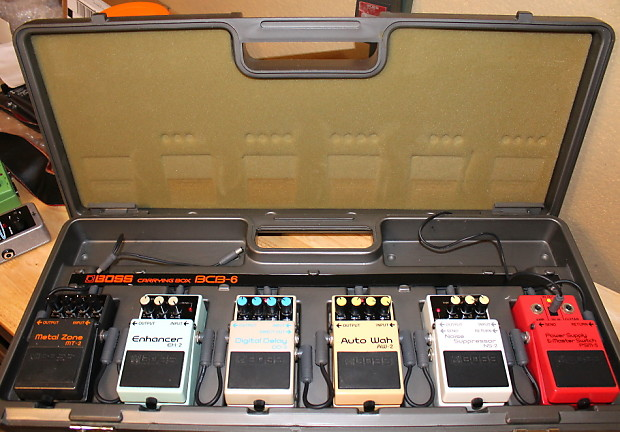 pedalboard with pedals boss bcb 6 pedal board w psm 5 power reverb. Black Bedroom Furniture Sets. Home Design Ideas