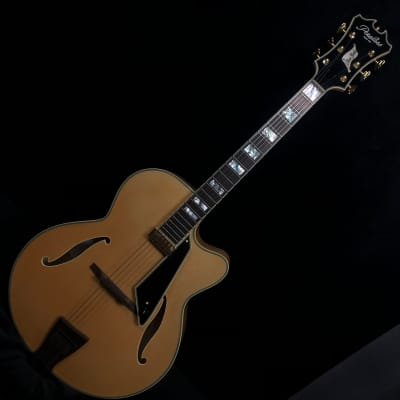 Peerless New York Archtop Electric Guitar Blonde #8390 w original Peerless hard case for sale