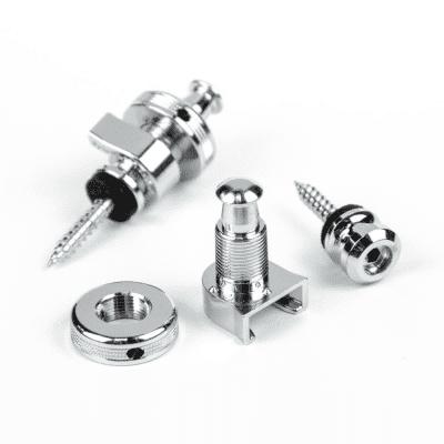 Schaller Security Strap Locks in Nickel for sale
