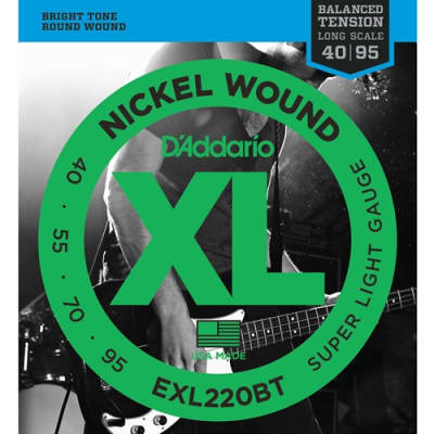 D'Addario EXL220BT Balanced Tension Bass Strings, .045 - .095
