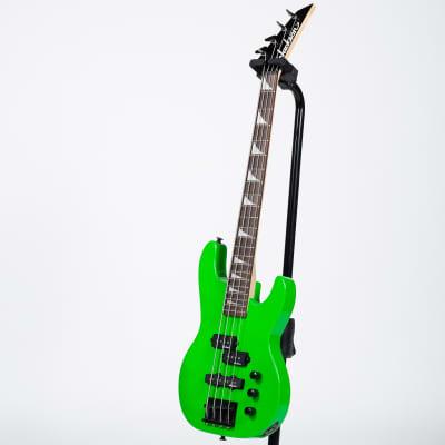 Jackson JS1X Minion Concert Bass Guitar - Amaranth, Neon Green for sale