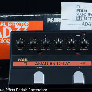 Pearl AD-33 Analog Delay early 80's Japan s/n 857007 with MN3005 BBD for sale