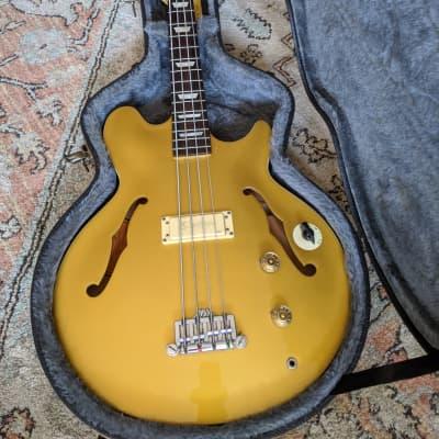 Epiphone  Jack Casady Signature Semi-Hollow Body Bass 1999 Gold-top