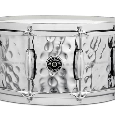 Gretsch Brooklyn Hammered Chrome Over Brass Snare Drum 14x6.5