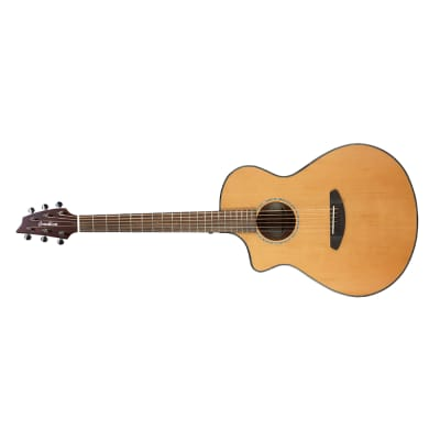 Breedlove Pursuit Concert CE Left-Handed Acoustic Electric Guitar, Red Cedar Top