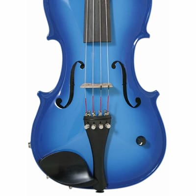 Barcus-Berry BAR-AEVB Vibrato-AE Series 4-String Acoustic-Electric Violin w/Case, Bow, Strap & Rosin