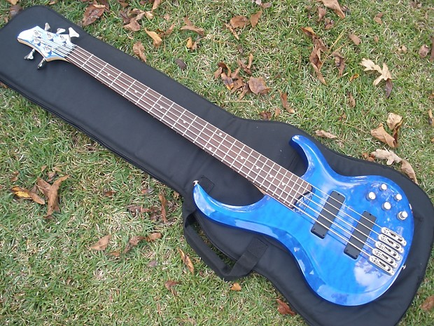 ibanez btb 5 string blue quilt top great bass reverb. Black Bedroom Furniture Sets. Home Design Ideas