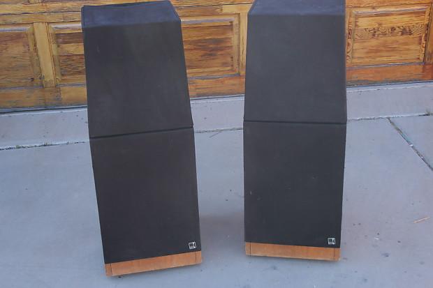 kef floor standing speakers. kef vintage 105.4 floor standing speakers 1990s wood grain/black grills kef