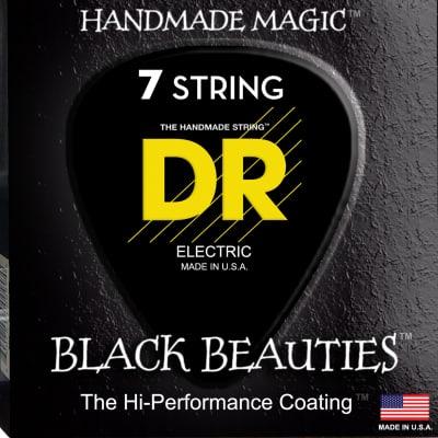 DR Strings BKE7-9 Black K3 Coated 7-String Electric Strings - Lite, 9-52 for sale