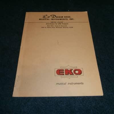 Vintage 1967 Eko Musical Instruments Catalog! Electric, Acoustic, Bass!
