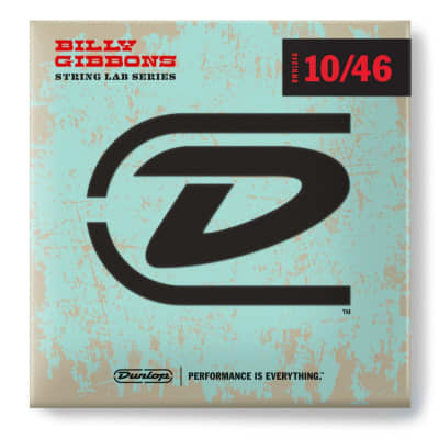 Dunlop RWN1046 Billy Gibbons' Signature String Lab Series Electric Guitar Strings, 10-46