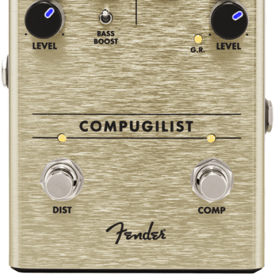 Fender Compugilist Compressor/Distortion Guitar Effect Pedal for sale