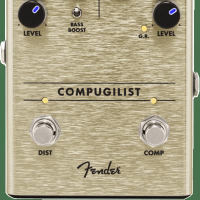 Fender Compugilist Compressor/Distortion Guitar Effect Pedal for sale