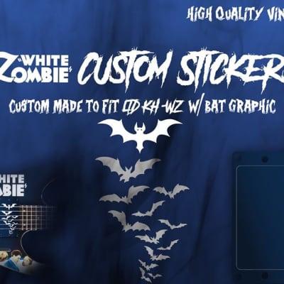 White Zombie Stickers - Custom Pickup Stickers Covers For ESP LTD White Zombie
