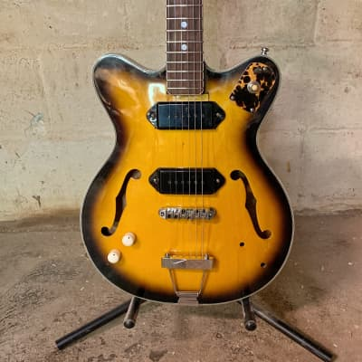 Lefty Kimberly Heit Fugigen Teisco Japanese Professional Rebuild Handwound P90 Gig Ready Rat Rod for sale