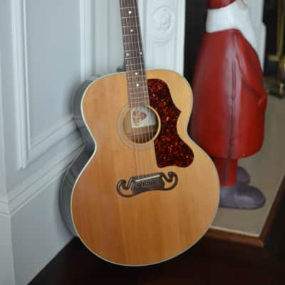 Vintage Gibson J-100 Extra, recent pro setup, all original, w/ hardcase WITH DEMO VIDEO for sale
