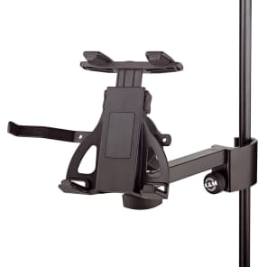 K&M 19740 Universal Clamp-On Mic Stand Tablet Holder