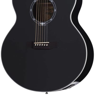Schecter Synyster Gates SYN J Jumbo Acoustic/Electric Guitar - Gloss Black for sale