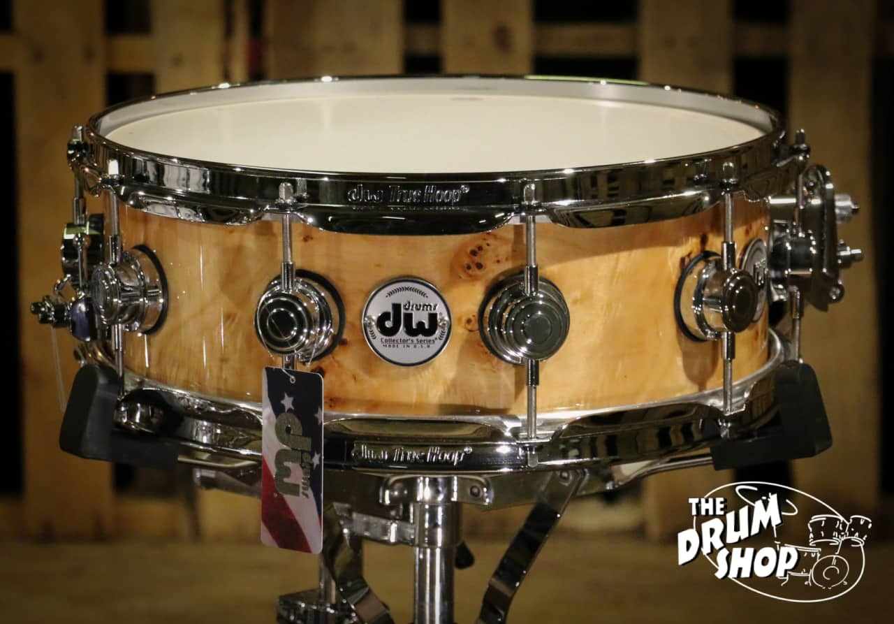 dw collector 39 s snare drum clear lacquer over exotic mapa reverb. Black Bedroom Furniture Sets. Home Design Ideas