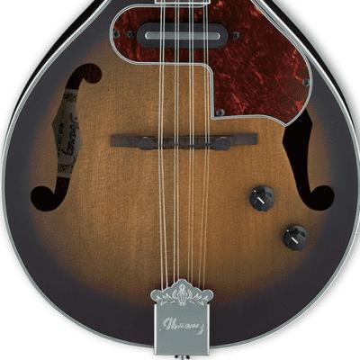Ibanez M510E A-Style Acoustic/Electric Mandolin Open Pore Vintage Sunburst for sale