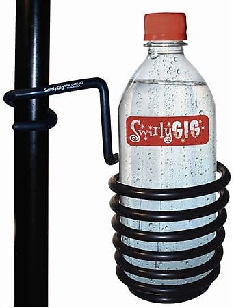 The SwirlyGig II Drink Holder for 1 inch. Tubing -Black Accessory