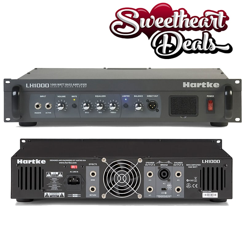 Hartke LH1000 1000w Bass Guitar Amplifier Head Class-A Tube