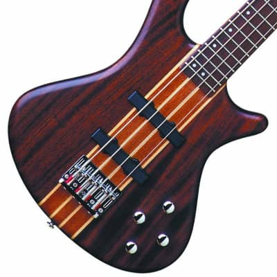 Washburn T24NMK Tauras Neck Thru 4-String Electric Bass Guitar w/Gig Bag - Natural Matte for sale