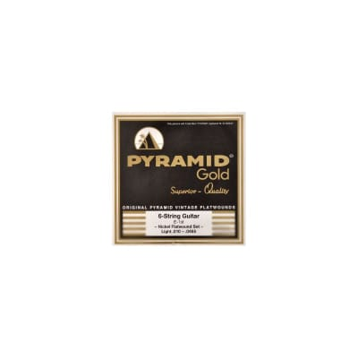 Pyramid Electric Gold Flatwound Strings 10-465