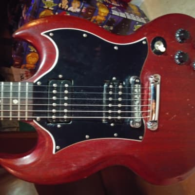 Gibson SG Special Relic Faded Cherry Red Electric Guitar Bundle for sale
