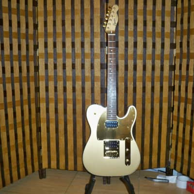Squier J5 Telecaster Frost Gold 2010s with Hard Case