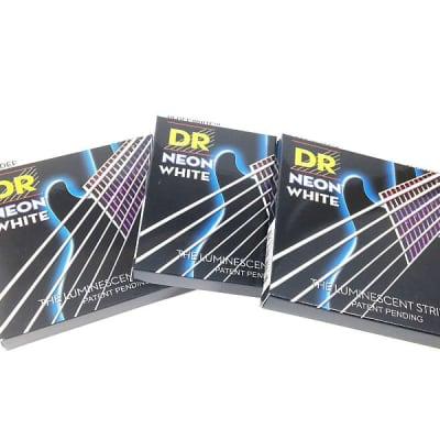 DR Strings Guitar Strings 3 Pack Electric Neon White 09-42 Light
