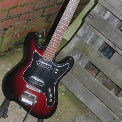 Heit Deluxe by Teisco 60s Red Burst for sale