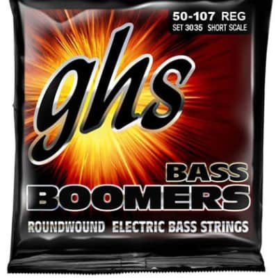 GHS 3035 Bass Boomers 4-String Bass Set, Short Scale 50-107