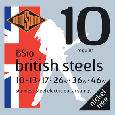 RotoSound Guitar Strings British Steels Stainless Steel Regular 10-46 for sale