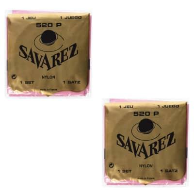 Savarez Guitar Strings 2-Pack Nylon 520P High Tension  Wound 2nd 3rd Red Card