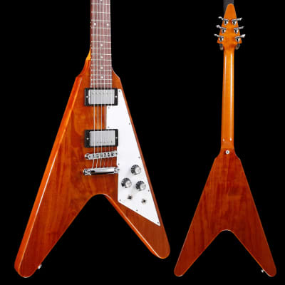 Gibson DSV19ANCH1 Flying V 2019 Antique Natural S/N 190009419 7lbs 8oz for sale