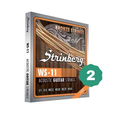 New Strinberg WS-11 Light Bronze Acoustic Guitar Strings (2-PACK)