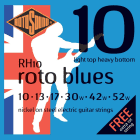 Rotosound RH10 Nickel Light Top/Heavy Bottom Electric Guitar Strings (10-52) image