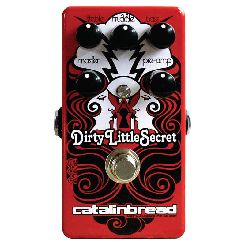 Catalinbread Dirty Little Secret Red Hot Rod Marshall Overdrive Effects Pedal