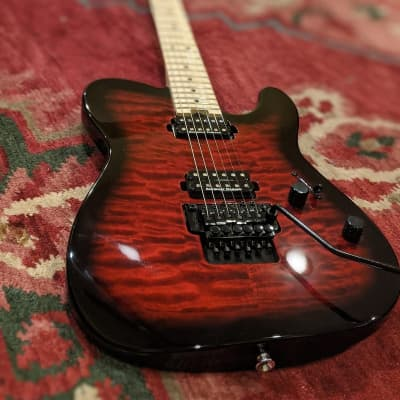 Charvel Pro-Mod San Dimas Style 2 HH Floyd Rose with Maple Fretboard Satin Trans Red Burst for sale