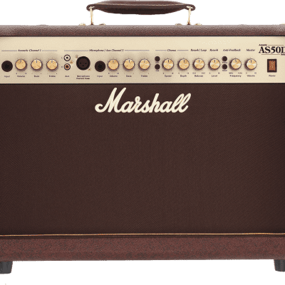 Marshall AS50D 50-Watt 2x8 2-Channel Acoustic Combo Amp