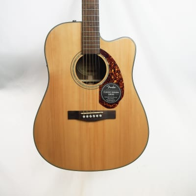 Fender CD-140SCE Solid Spruce/Rosewood Dreadnought Cutaway with Electronics Natural