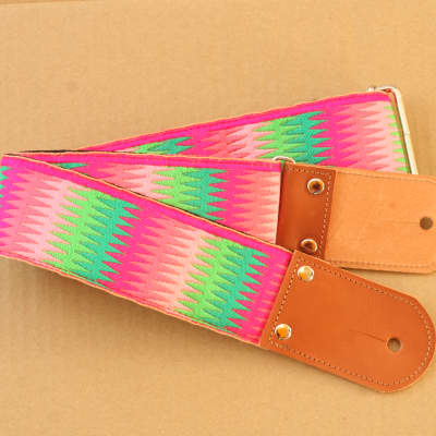 Pardo Guitar Strap Rainbow Hippie 2'5 Inches Wide For Guitar & Bass