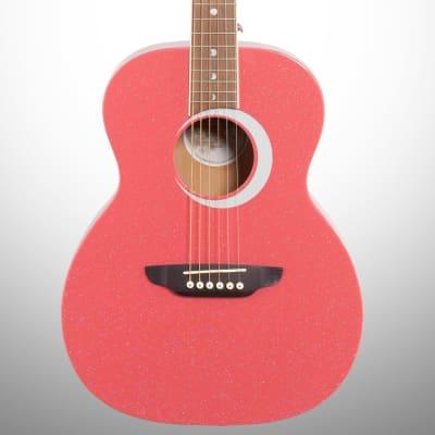 Luna Aurora Borealis 3/4-Size Acoustic Guitar, Pink for sale
